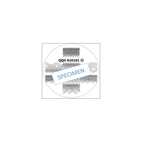 Patch énergétique coronavirus5 Stop n-CoV 2019-2020, Chine Wuhan